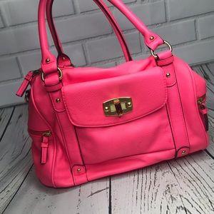 Neon pink handbag purse